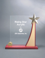 "Rising Star Curve Acrylic Award | Corporate Award - 8.5"" & 9.5"" - Large"