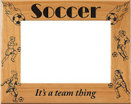 """Soccer Female """"It's a Team Thing"""" Picture Frame"""