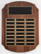 Perpetual Plaque - Genuine Walnut with 24 plates