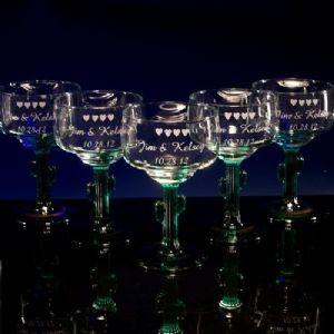 Margarita Cactus Glasses - Personalized