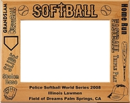 Softball Picture Frame - Personalized