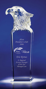 "Sky Master Crystal Eagle Corporate Award - 10.25"" - Engraved"
