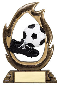 "Soccer Flame Series Trophy | Fútbol Award - 6"" & 7.25"""
