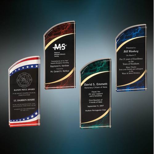 "Rounded Marbleized Acrylic Award | Acrylic Corporate Award - 6"", 7"" and 8"""
