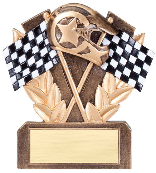 Racing Checkered Flags Trophy