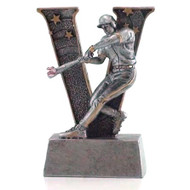 "Baseball ""Action"" V Series Resin Trophy 
