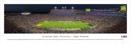 Louisiana State University Panorama Print #4 (50 Yard - Night) - Unframed