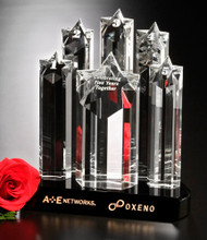 Star Prominence Crystal Trophy | Star Corporate Award - 9""