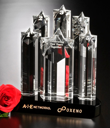 """Star Prominence Crystal Trophy 
