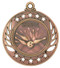 Bowling Galaxy Medal - Gold, Silver & Bronze | Engraved Bowler Medallion | 2.25 Inch Wide Bowling Galaxy Medal - Bronze