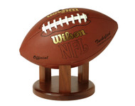 Football Stand / Holder - Solid Walnut - 4""