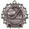Golf Ten Star Medal - Gold, Silver or Bronze   Golfer 10 Star Medallion   2.25 Inch Wide Golf Ten Star Medal - Silver
