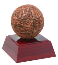 Basketball Color Resin Trophy | Engraved Basketball Award - 4 Inch Tall