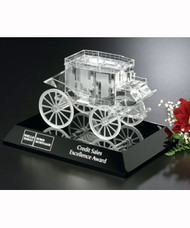 Stagecoach on Black Base Crystal Corporate Award - 4.5""