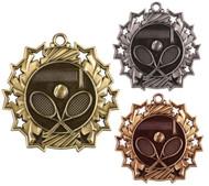 Tennis Ten Star Medal - Gold, Silver & Bronze | Tennis Racket 10 Star Award | 2.25 Inch Wide