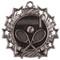 Tennis Ten Star Medal - Gold, Silver or Bronze | Tennis Racket 10 Star Medallion | 2.25 Inch Wide Tennis Ten Star Medal - Silver