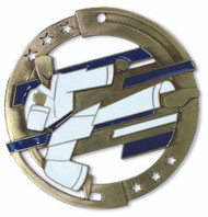 Martial Arts M3XL Medal | Engraved Karate Medallion | 2.75 Inch Wide