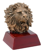 Rugged Lion Mascot Trophy