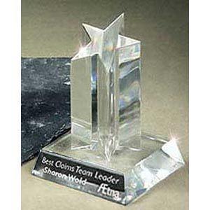 "Celestial Single Star Acrylic Trophy   Star Corporate Award -5"""