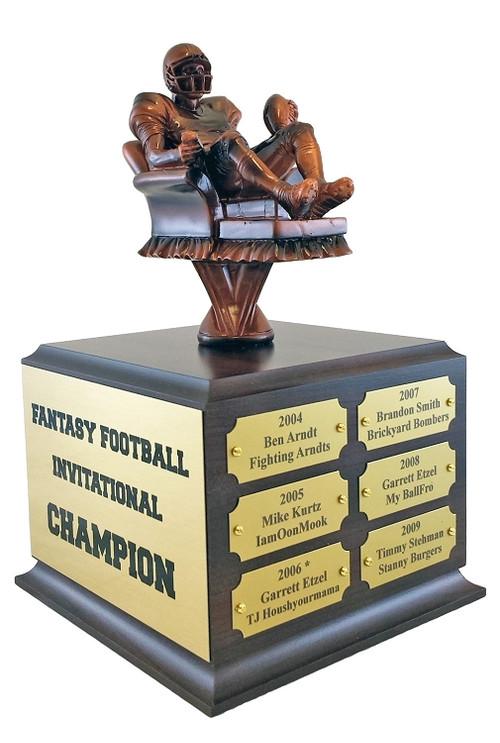 Fantasy Football Armchair Quarterback Perpetual Trophy | FFL Award | 10.5 Inch Tall