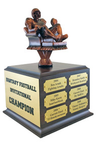 Fantasy Football Armchair Quarterback Perpetual Trophy | Engraved FFL Perpetual Award - 10.5 Inch Tall