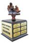 Fantasy Football Armchair Quarterback Perpetual Trophy | Engraved FFL Perpetual Award - 10.5 Inch Tall