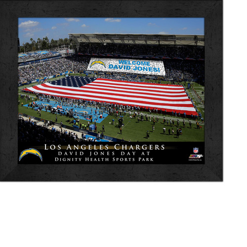 Design For Dignity Los Angeles: Personalized San Diego Chargers Stadium Print