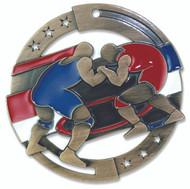 Wrestling M3XL Medal | Engraved Wrestler Medallion | 2.75 Inch Wide