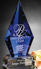 Azurite Crystal Corporate Award – 6.75""