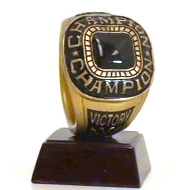 Championship Ring Trophy | Champion Ring Award | 4 Inch Tall
