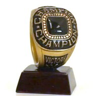 Championship Ring Trophy | Engraved Champion Ring Award - 4 Inch Tall