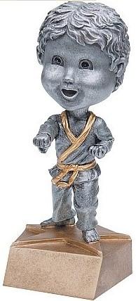 Karate Pewter Bobblehead Trophy - Male