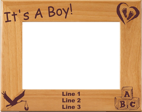 Baby Boy Picture Frame - Personalized