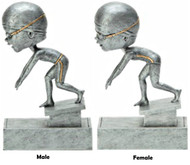 Swimming Bobblehead Trophy - Male / Female