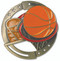 Basketball M3XL Medal | Engraved Hoops Medallion | 2.75 Inch Wide