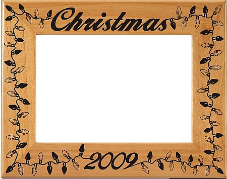 Christmas Lights Picture Frame - Personalized