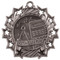 Math Ten Star Medal - Gold, Silver or Bronze | Mathematics 10 Star Medallion | 2.25 Inch Wide Math Ten Star Medal - Silver