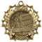 Math Ten Star Medal - Gold, Silver or Bronze | Mathematics 10 Star Medallion | 2.25 Inch Wide Math Ten Star Medal - Gold