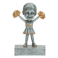 """Rock 'n Bop"" Bobblehead Cheerleader Trophy"