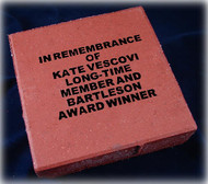 "8"" x 8"" Red Street Paver Brick Tile Personalized - LaserGrade"