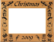 Christmas Toy Border Picture Frame - Personalized