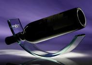 "Wine Cradle Crystal Corporate Award - 4"" x 10.75""  - Engraved"