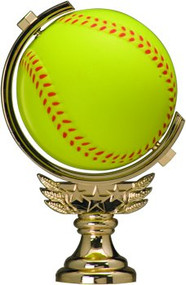 Softball Spinner Trophy - Topper