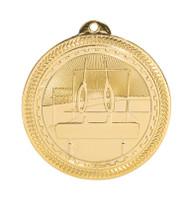 Gymnastics BriteLazer Medal - Gold, Silver & Bronze | Engraved Gymnast Medallion | 2 Inch Wide Gymnastics BriteLazer Medal - Gold