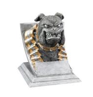 Bulldog Spirit Mascot Trophy | Engraved Bulldog Award - 4 Inch Tal