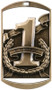 "1st, 2nd & 3rd Dog Tag Medals - Gold, Silver & Bronze | Engraved Place Medal | 1.5"" x 2.75"" 1st, 2nd & 3rd Place Dog Tag Medals - Gold"
