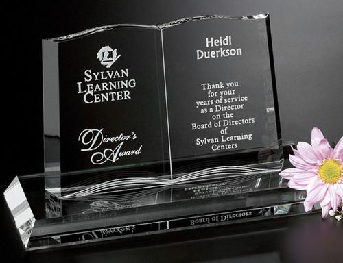 Open Book Crystal Award