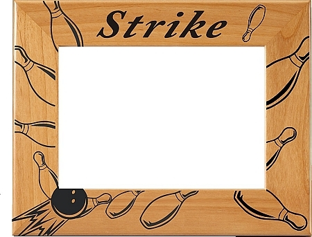 "Bowling ""Strike!"" Picture Frame - Horizontal"