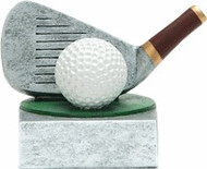 Golf Club and Ball Color Tek Trophy | Golfer Award | 4 Inch