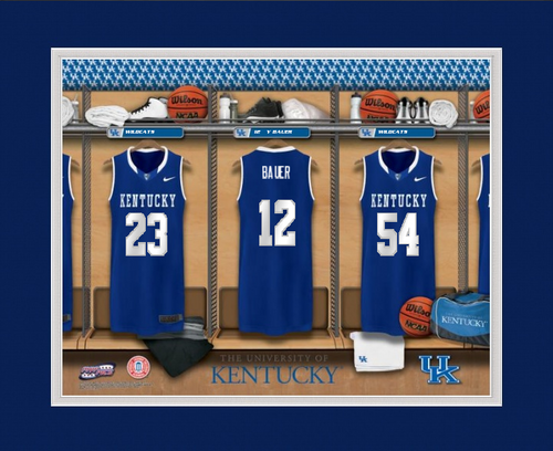 image relating to Printable Uk Basketball Schedule known as Kentucky Wildcats Basketball Locker Area Print - Tailored